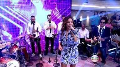 Ivete Sangalo abre o Encontro cantando 'Do Leme ao Pontal' - Cantora está fazendo shows com repertório do Tim Maia