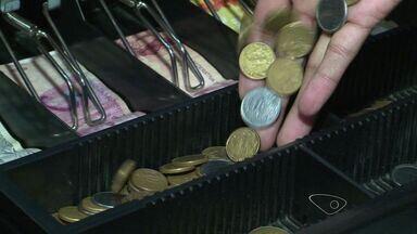 Comerciantes sentem falta de moedas no mercado no ES - Um dos motivos da falta seria o acúmulo de moedas em casa.