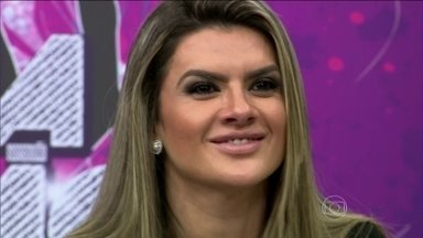 De volta ao Domingão, Mirella Santos também será madrinha do novo quadro - A loira contou como foi a pré-seleção para o novo quadro do Faustão