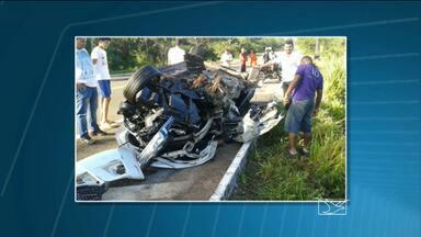 Fim de semana com nove mortes em rodovias do Maranhão - Sete acidentes foram registrados no período, segundo a PRF.Ao todo, dez pessoas ficaram feridas em acidentes.