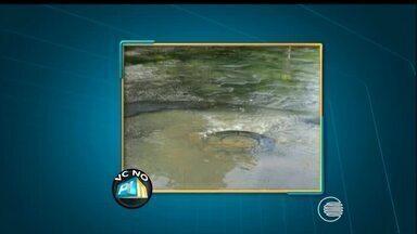 Telespectador denuncia vazamento de água no bairro Jockey Club - Telespectador denuncia vazamento de água no bairro Jockey Club