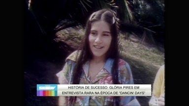 Reveja entrevista com Gloria Pires na época de Dancin Days - A atriz conversou com a repórter do Jornal Hoje em 1978
