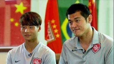 Chines do Desportivo Brasil é o primeiro jogador do país a marcar um gol no profissional - Desportivo fez uma parceria com o Shandong Luneng, da China