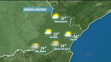 Confira a previsão para o domingo (14) - Há probabilidade de chuva pela manhã na capital e a temperatura máxima deve chegar a 23ºC.