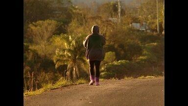 Temperatura mínima em Santa Maria foi 2,8° - O amanhecer da cidade ficou com a temperatura perto dos 9°.