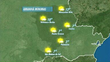 Confira a previsão do tempo para os Campos Gerais - A semana deve continuar com muito frio nas cidades da região