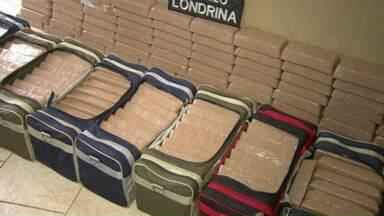 Denarc apreende 250 quilos de droga em Cambé - A suspeita é de que a droga apreendida seria da quadrilha presa ontem pela Polícia Federal.
