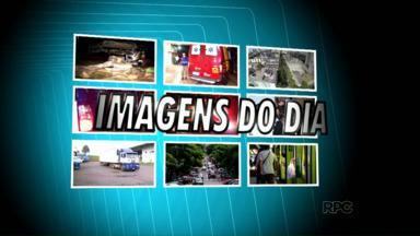 Imagens do dia: 19 passageiros de ônibus ficam feridos em acidente - Foi na Br 277 em Santa Terezinha de Itaipu. Eles iam fazer compras no Paraguai