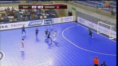 Umuarama Futsal vence Minas pela Liga Nacional - O time do noroeste deu mais um passo para conseguir uma das vagas à próxima fase da competição nacional.