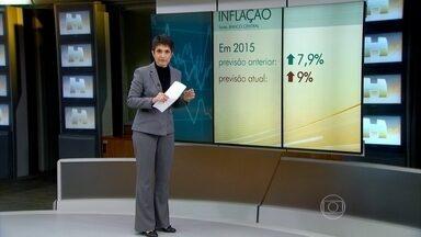 BC revisa previsões pessimistas para a economia brasileira - Há três meses, o Banco Central acreditava que a inflação fecharia o ano em 7,5%. Agora a previsão é que o IPCA vai chegar a 9% em dezembro.