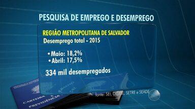 Mais de 18% da população ativa está sem emprego na região metropolitana de Salvador - Os números são do mês de maio; confira.