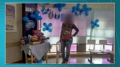 Paciente denuncia fechamento de posto de saúde para festa de funcionários - O posto de saúde estava fechado para a população, mas lá dentro ocorria uma festa de chá de bebê.