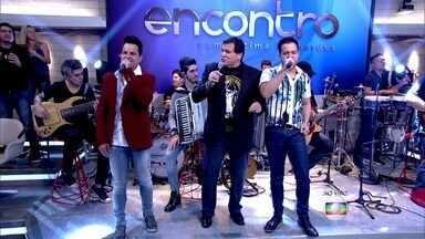 João Neto e Frederico e Jerry Adriani cantam 'Tente Outra Vez' - Dupla e cantor abrem o Encontro com clássico de Raul Seixas