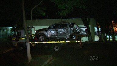 Caminhonete roubada em Porto Alegre é recuperada em Foz do Iguaçu - Policiais Militares encontraram a caminhonete toda amassada, no meio de uma plantação de milho, no Arroio Dourado.