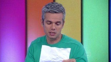 Otaviano Costa faz pouco caso de 'intimação' enviada por Dennis Carvalho - Apresentador diz que documento tinha erro de portugês
