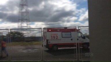 Foi transferido hoje de manhã para Curitiba menino atropelado por uma jovem de 14 anos - O garotinho teve a perna esquerda amputada.