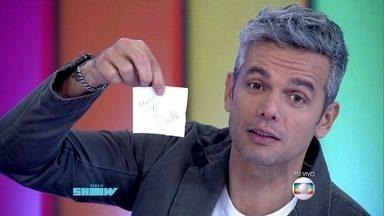 Otaviano Costa lê correio elegante da festa junina de I Love Paraisópolis - Danton Mello envia mensagem para Monica Iozzi