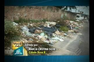 Telespectador denuncia lixão no conjunto Cidade Nova, em Ananindeua - Prefeitura informou que coleta de lixo é feita regularmente.