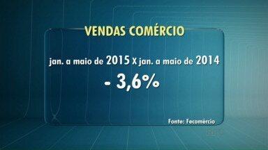 Vendas em Londrina caem 3,6% nos cinco primeiros meses de 2015 - No Paraná a queda foi de 3,4% comparado ao mesmo período do ano passado.