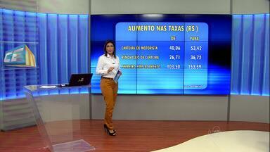 Valores das taxas do Detran vão aumentar - Assembleia aprovou alta nas taxas estaduais que passa a valer em janeiro de 2016