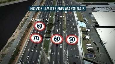 Motoristas reclamam de redução de velocidade nas marginais - Radares foram instalados ao longo das marginais. A medida tem o objetivo de diminuir o número de acidentes nas pistas.