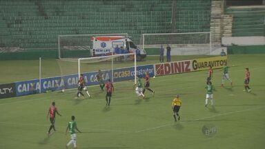 Guarani empata com Brasil de Pelotas - O time de Campinas, que não fazia nenhum gol há várias partidas, empatou em 2 a 2 com o Brasil de Pelotas.