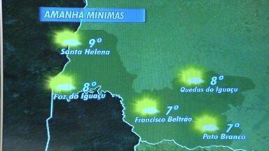 Temperaturas diminuem no oeste e no sudoeste - A mínima em Francisco Beltrão e em Pato Branco será de sete graus.