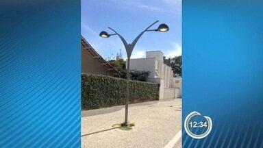 Telespectador flagra desperdício de energia elétrica em Caraguá - Imagens foram enviadas pelo aplicativo Vanguarda Repórter.