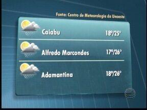 Tempo instável deve predominar no Oeste Paulista - Nebulosidade atingirá algumas cidades durante a manhã.