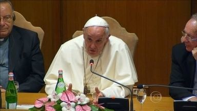 Prefeito Marcio Lacerda e representantes de cidades de vários países se reúnem com o Papa - Veja os detalhes deste encontro na reportagem de Ilze Scamparini.