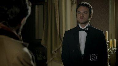 Além do Tempo - Capítulo de Segunda-feira, 27/07/2015, na íntegra - Pedro mente e confirma a Felipe que Lívia está no convento