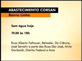 Bairro de Erechim, RS, fica sem água nesta quinta (30) - Moradores do Bairro Linho devem ficar sem água das 7h30 às 18h.