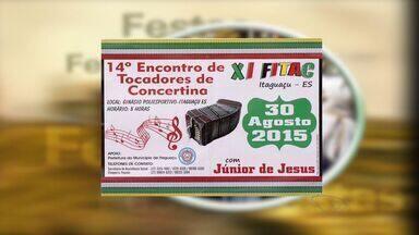 Confira a Agenda do Campo, no ES - Festival da Concertina é uma das atrações.