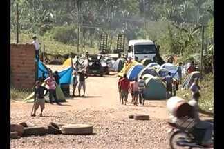 Integrantes do MST protestam em Carajás - Mobilização cobra desapropriação de fazendas na região.