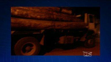 Sete caminhões com carga ilegal são apreendidos no interior do estado - Sete caminhões que transportavam madeira extraída ilegalmente foram apreendidos no fim de semana no interior do estado.