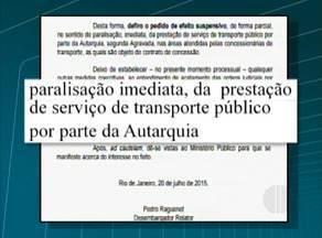 Prefeitura e empresas particulares de ônibus brigam judicialmente em Maricá, no RJ - Justiça determinou que os ônibus gratuitos parem de circular na cidade.