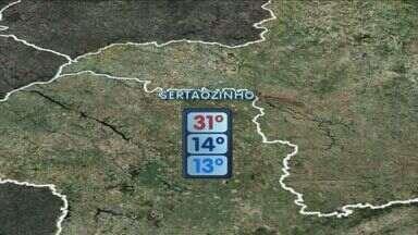 Confira a previsão do tempo para terça-feira (4) na região - Umidade do ar volta a cair e fica menor que nesta segunda-feira (3).