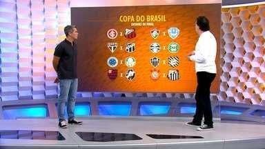 """Casagrande analisa os confrontos das oitavas da Copa do Brasil: """"Prefiro os clássicos"""" - Rodada terá Corinthians x Santos e Flamengo x Vasco além de outros jogões"""