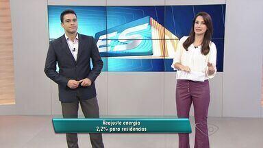 Conta de luz fica mais cara a partir de sexta-feira no Espírito Santo - Reajuste médio será de 2,04% para 1,5 milhão de consumidores.Em março, Aneel já havia autorizado aumento médio de 26,3%.