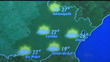 Confira a previsão do tempo para a quarta-feira (05) - Em Curitiba, mínima de 14 graus e máxima de 22 graus.