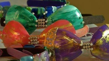 Materiais recicláveis se transformam em peças de decoração - Materiais recicláveis se transformam em peças de decoração