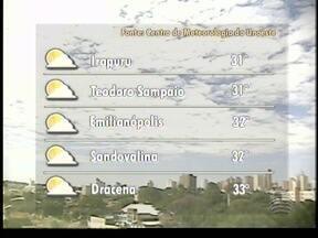 Massa de ar seco deve predominar no Oeste Paulista - Calor pode continuar na maioria das cidades.