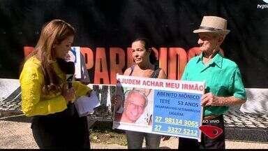Desaparecidos: pessoas procuram parentes e amigos desaparecidos no ES - A cada 15 dias, encontro é realizado na Praça Costa Pereira, no Centro de Vitória.