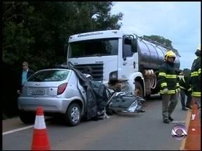 Morre quarta vítima de acidente da RS 135 - Ela estava há mais de uma semana internada.