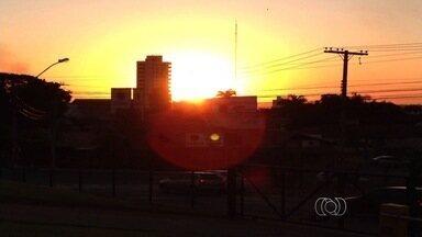 Confira a previsão do tempo desta segunda-feira (10) para todo o estado - Céu deve ser claro sem a presença de nuvens por todas as regiões de Goiás.