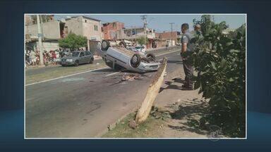 Duas pessoas ficaram feridas após acidente de carro em Piracicaba - O caso aconteceu no Jardim Planalto.