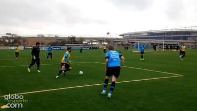 Após goleada no Gre-Nal, Grêmio inicia preparação para enfrentar o líder Atlético-MG - Assista ao vídeo.