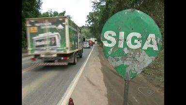 BR-101, no Sul e Norte do Espírito Santo, está interditata por causa de obras - São 16 pontos em obras na rodovia, de norte a sul do estado.