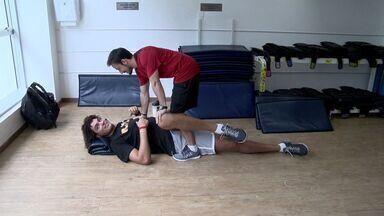 Veja os destaques do esporte no ES - Capixaba Anderson Varejão se machucou em jogo.