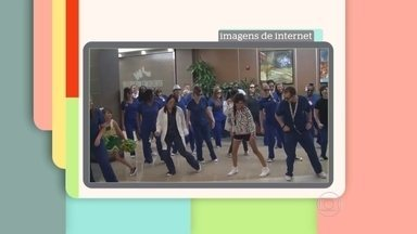 Patrícia Poeta mostra vídeo de flash mob em hospital - Ana Furtado, Patricia Poeta, Tiago Leifert e Zeca Camargo comentam vídeo flash mob feito em hospital com uma paciente. O vídeo teve milhares de visualizações na internet